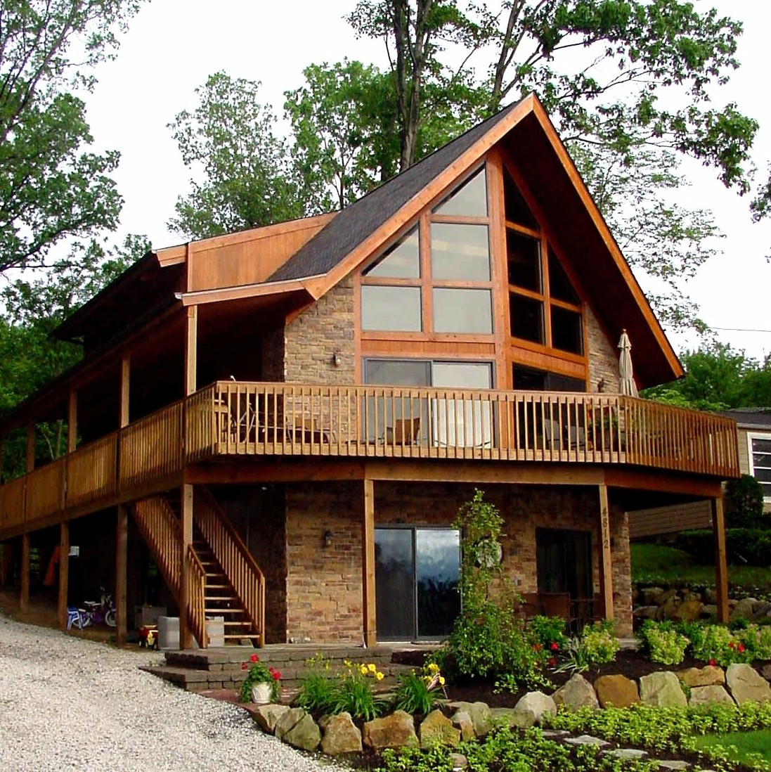 Blog cabin in the woods Chalet style log homes